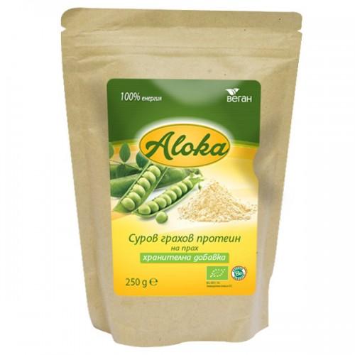 Грахов протеин на прах Суров, Био Aloka, 250 гр. - Aloka