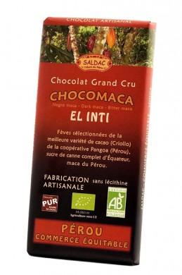 Черен шоколад с мака корен Био Saldac, 100гр. - Saldac