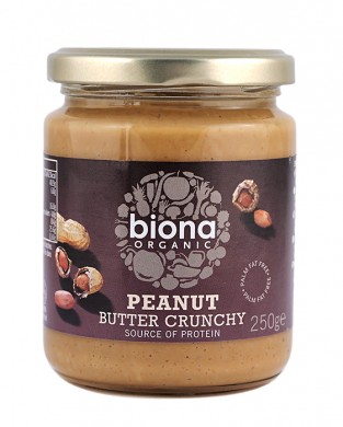 Фъстъчено масло с парченца Био Biona, 250гр. - Biona