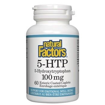 5 HTP 100 мг. Natural Factors, 60 бр. - Natural Factors