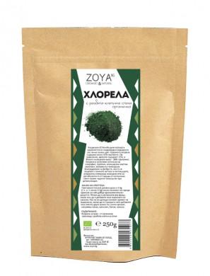 Хлорела водорасли на прах Био Zoya, 250 гр. - Zoya
