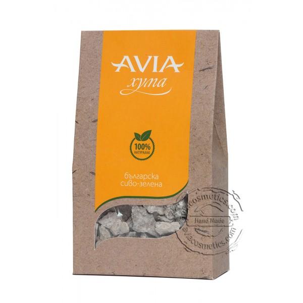 Сиво зелена хума на буци (натурална) Avia, 250гр. - Avia
