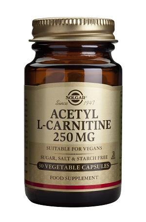 Ацетил L-карнитин 250 мг. Solgar, 30 бр. - Solgar
