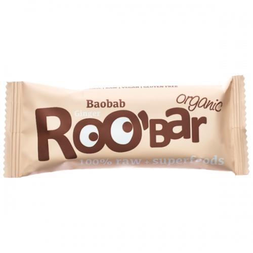 Суров бар баобаб и джинджифил Био Roobar, 50гр. - Roobar