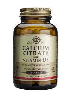 Калциев цитрат с витамин D3 250мг. Solgar, 60 бр. - Solgar