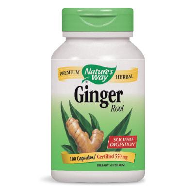 Джинджифил (корен) 550 mg х 100 бр. - Nature's Way