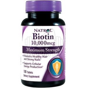 Биотин максимална сила 10,000мкг. Natrol, 100бр. - Natrol