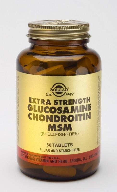 Подсилен комплекс глюкозамин хондроитин МСМ Solgar, 60бр. - Solgar