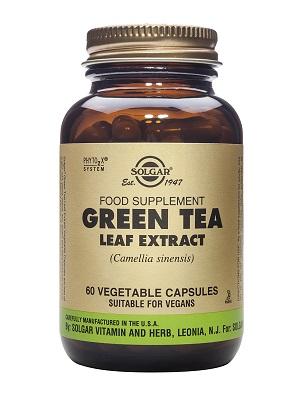 Екстракт от листа на зелен чай, Solgar, 60бр. - Solgar