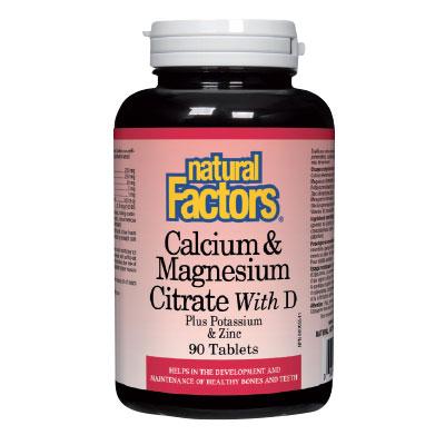 Калций и Магнезий+Витамин D3 376 мг. Natural Factors,   90бр. - Natural Factors