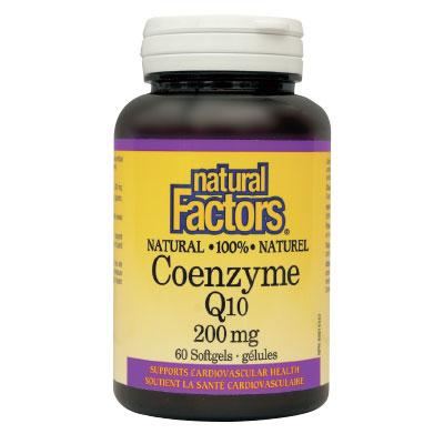Коензим Q10 200мг. Natural Factors,  60бр. - Natural Factors