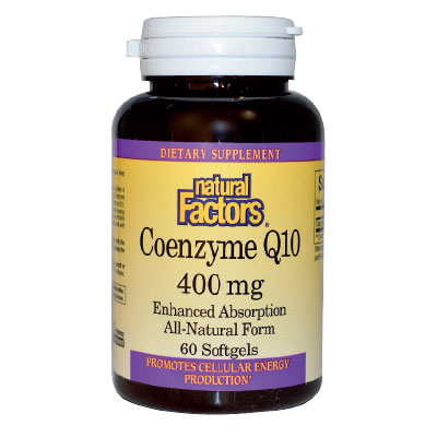 Коензим Q10 400 мг. Natural Factors,  60 бр. - Natural Factors