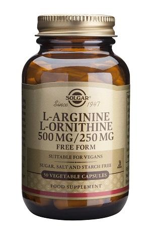 L-аргинин – L-орнитин 500/250мг. Solgar, 50 бр. - Solgar