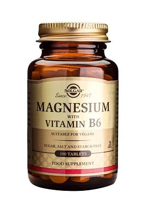Магнезий с витамин В6 Solgar, 100бр. - Solgar