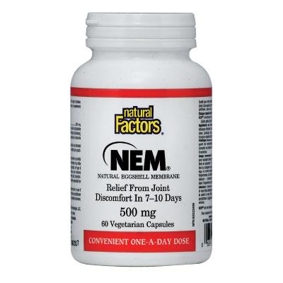 НЕМ (натурална яйчена мембрана) 500мг. Natural Factors, 60 бр. - Natural Factors