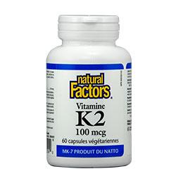Витамин К2 100 мг. Natural Factors, 60 бр. - Natural Factors