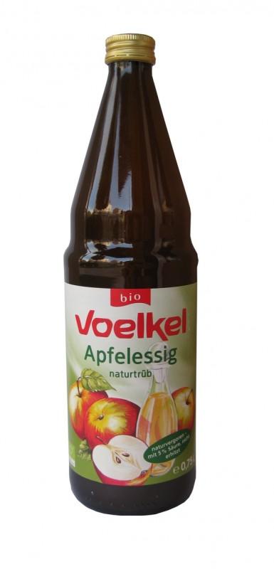 Ябълков оцет естествено мътен Био Voelkel, 750мл. - Voelkel