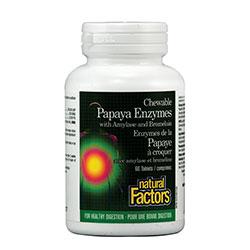 Папая Eнзими с Амилаза и Бромелаин, Natural Factors,  60 бр. - Natural Factors