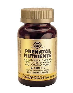 Пренатал – витамини за бременни Solgar, 60бр. - Solgar