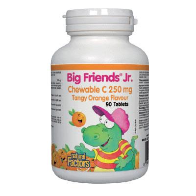 Витамин С BigFriends® за деца (портокал) 250 мг. Natural Factors, 90 бр. дъвчащи таблетки - Natural Factors