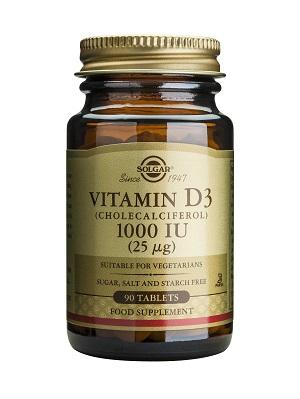 Витамин D3 1000 IU, Solgar, 90 бр. - Solgar
