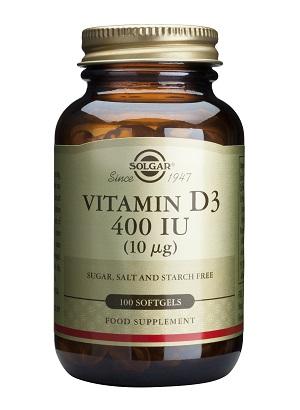 Витамин D3 400 IU, Solgar, 100 бр. - Solgar