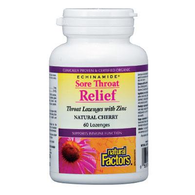 Здраво гърло (череша) с Цинк 55 мг. Natural Factors,  60 бр. - Natural Factors