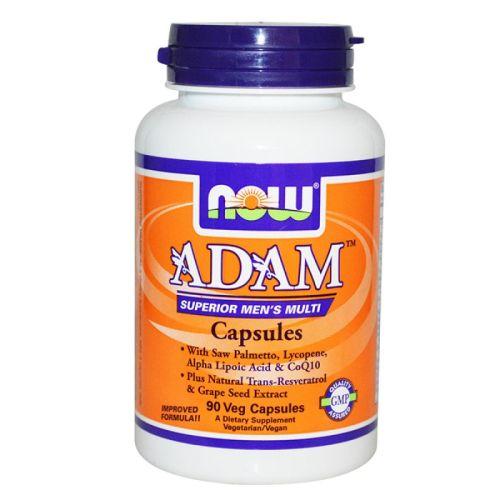 Мъжки витамини Adam капсули Now, 90бр. - Now