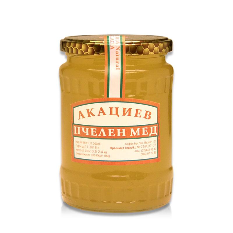 Акациев мед Гергов, 800 гр. - Гергов