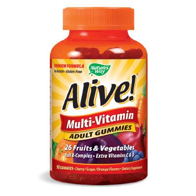 Alive! / Алайв мултивитамини за Възрастни 100 мг. Nature's Way,  90 бр. - Nature's Way