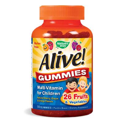 Alive! / Алайв /желирани мултивитамини за деца/ 3.5 г. Nature's Way,  90 бр. - Nature's Way