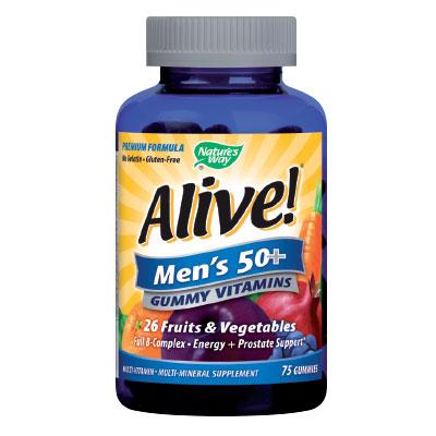 Alive! / Алайв мултивитамини за Мъже 50+ 94мг. Nature's Way, 75 бр. - Nature's Way