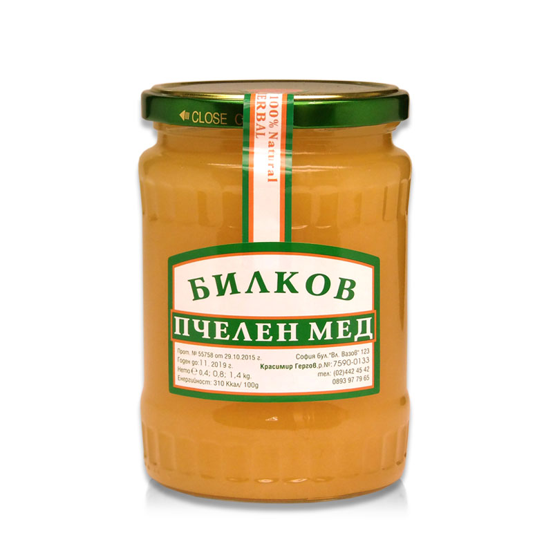 Билков мед Гергов, 800 гр. - Гергов