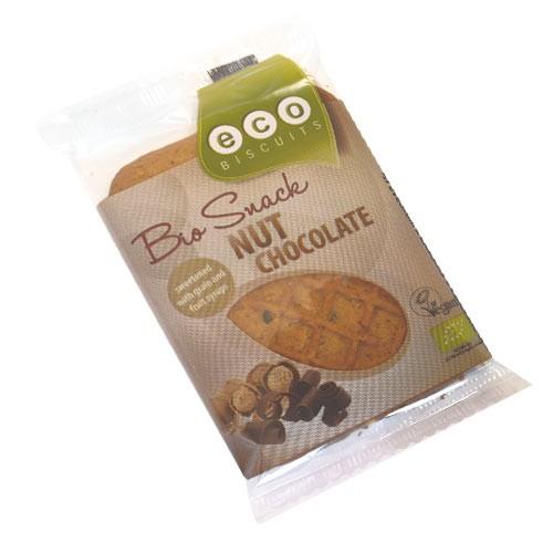 Бисквита с лешници и шоколад  Био Eco Biscuit , 45 гр. - Eco Biscuits