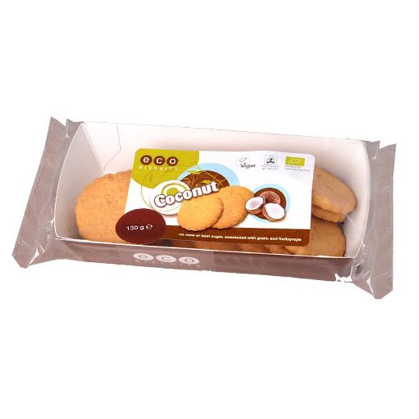 Детски бисквити с кокос Био Веган, Eco Biscuit, 130 гр. - Eco Biscuits