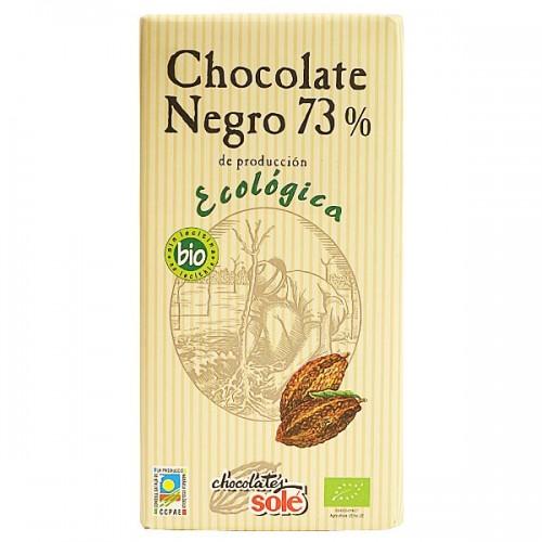 Шоколад черен Био 73 % какао Sole, 100 гр. - Sole