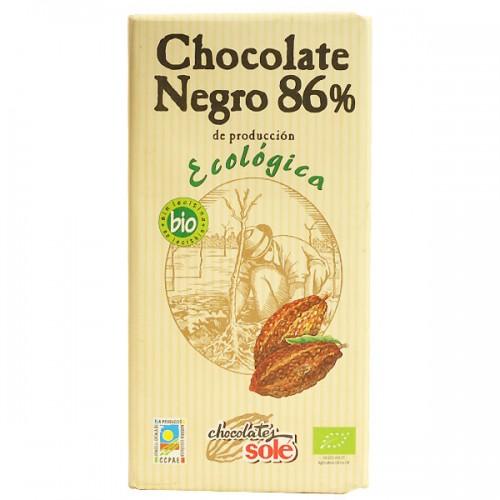 Шоколад черен Био 86 % какао Sole, 100 гр. - Sole