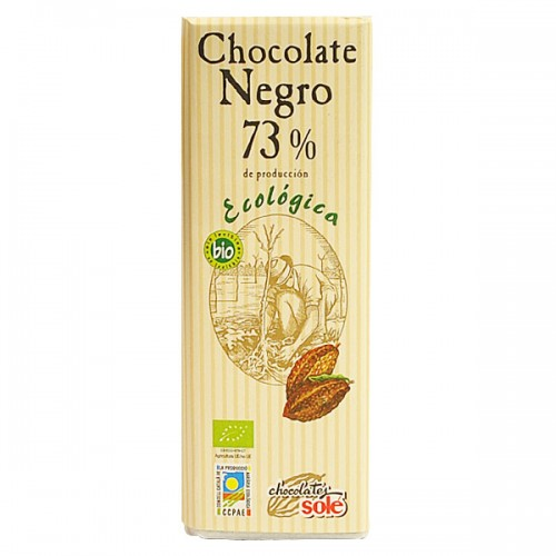 Шоколад черен Био 73 % какао Sole, 25 гр. - Sole