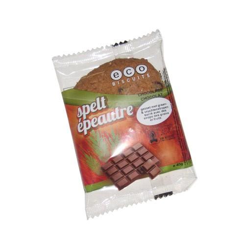 Бисквита шпелтова с шоколад  Био Eco Biscuit , 40 гр. - Eco Biscuits