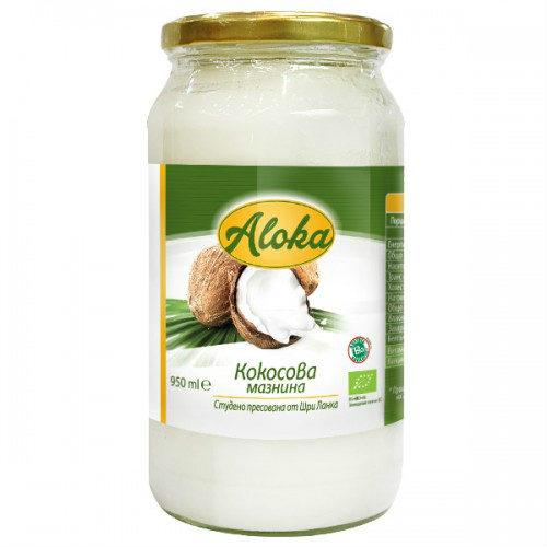Кокосова мазнина студено пресована Био Aloka, 950 мл. - Aloka