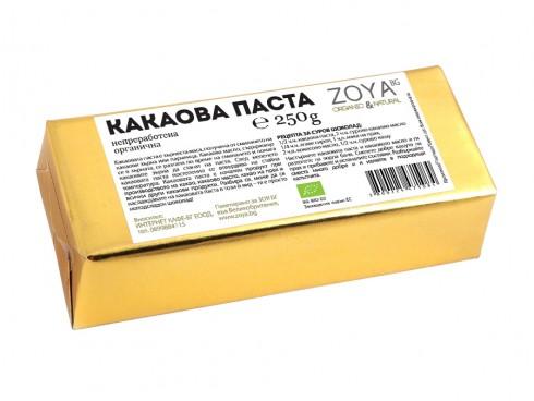 Какаова паста Био Zoya, 250 гр. - Zoya