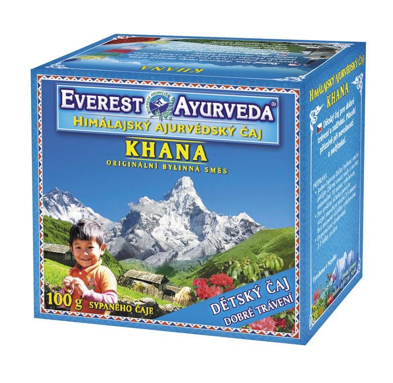 Khana Детски чай за добро храносмилане и  усвояване на  хранителните вещества Everest ayurveda, 100гр. - Everest ayurveda