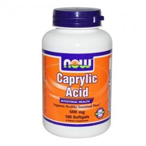 Caprylic Acid 600 мг, Now, 100 бр.