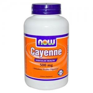 Cayenne (Лют Червен Пипер) - 500 мг, Now, 100 бр.