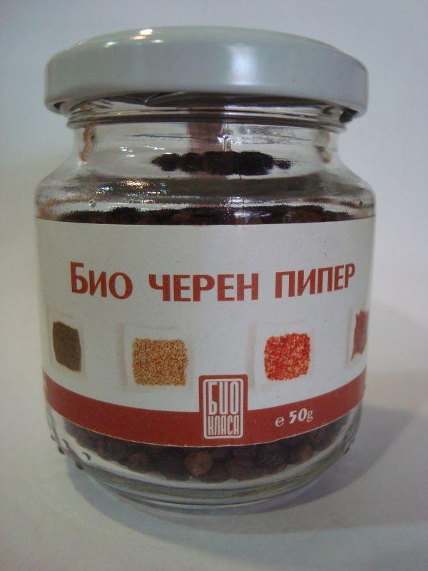 Черен пипер на зърна Био Био Класа 50гр. - Био Класа