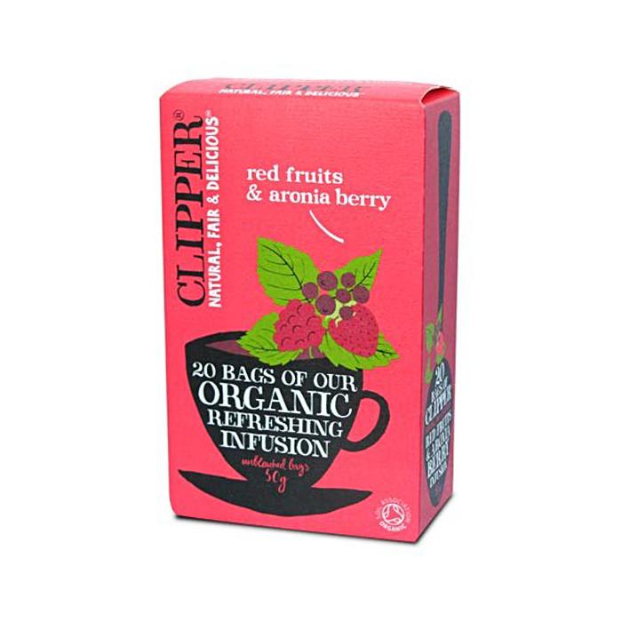 Био освежаваща плодова смес за чай от червени плодове и арония CLIPPER TEAS, 20 бр. - CLIPPER TEAS