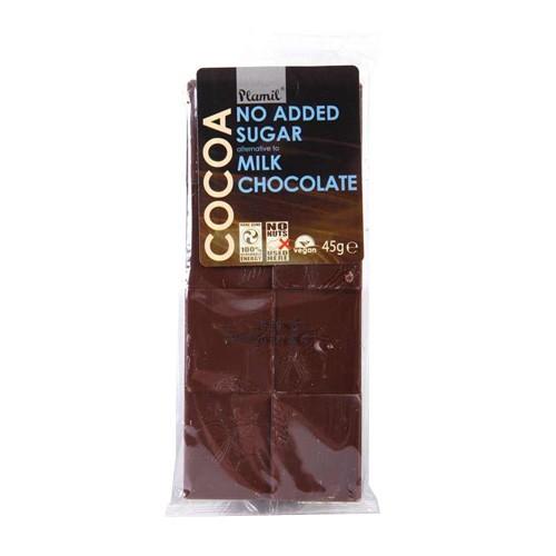 Шоколад без захар /Алтернатива на млечен/ Plamil, 45 гр. - Plamil
