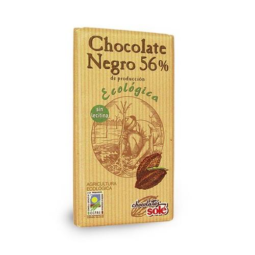 Шоколад черен Био 56 % какао Sole, 100 гр. - Sole