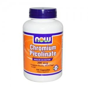 Chromium Picolinate 200 мкг, Now, 100 бр.