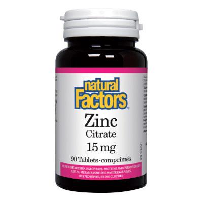 Цинк 15 мг. Natural Factors,  90 бр. - Natural Factors